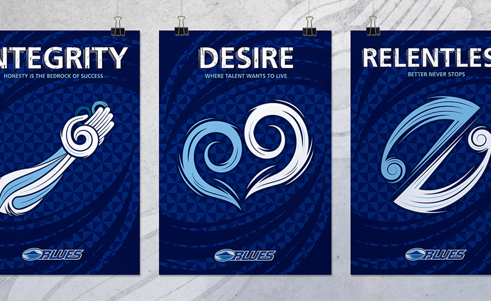 Blues rugby posters