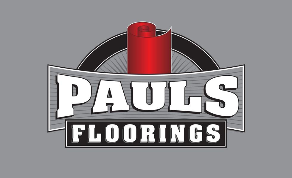 PAULS FLOORING<br><small>logo design</small>